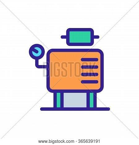 Compressor Monitoring Sensors Icon Vector. Compressor Monitoring Sensors Sign. Color Symbol Illustra