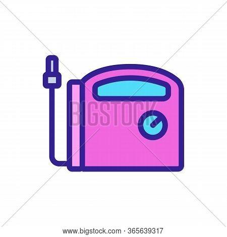 Air Compressor Indicator Icon Vector. Air Compressor Indicator Sign. Color Symbol Illustration