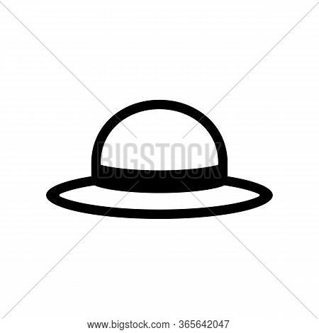 Hat Icon. Farmer Straw Hat. Headpiece For Sun Protection. Vector Illustration