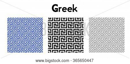 Greek Key Pattern. Seamless Vector. Abstrac Texture Design. Antique Geometric Illustration. History