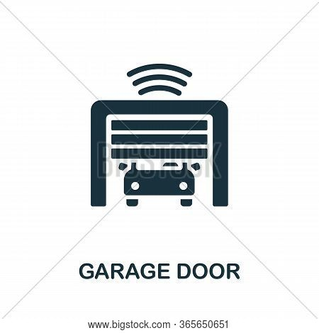 Garage Door Icon. Simple Illustration From Wireless Devices Collection. Creative Garage Door Icon Fo
