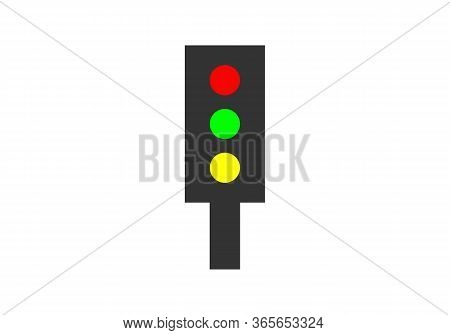 Road Traffic Light Isolated Vector - Semaphore Traffic Illustration Sign. Green Traffic Light. Light