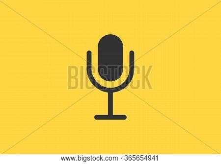 Microphone Icon Vector Isolated On White Background. Microphone Icon Collection. Microphone Vector I