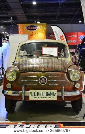 Pasay, Ph - Nov 30 - Fiat 600 At Manila Auto Salon Car Show On November 30, 2018 In Pasay, Philippin