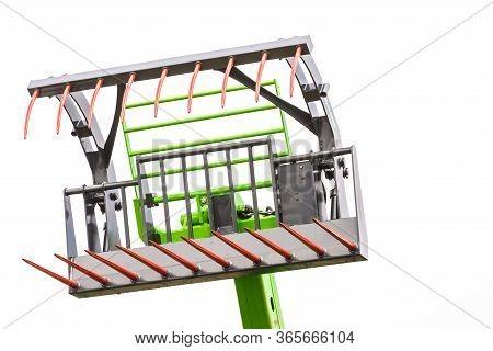 Digger Excavator Bucket Bulldozer Shovel Grabber Industrial Detail On Sky Background