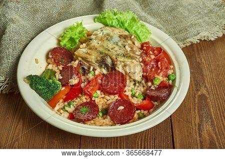 Baked Rabbit Chorizo Rice