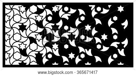 Jali Laser Cut Panel. Decorative Vector Panel For Laser Cutting. Jali Template For Privacy Fence In
