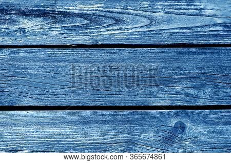 Old Grungy Wooden Planks Background In Navy Blue Tone. Abstract Background And Texture For Design.