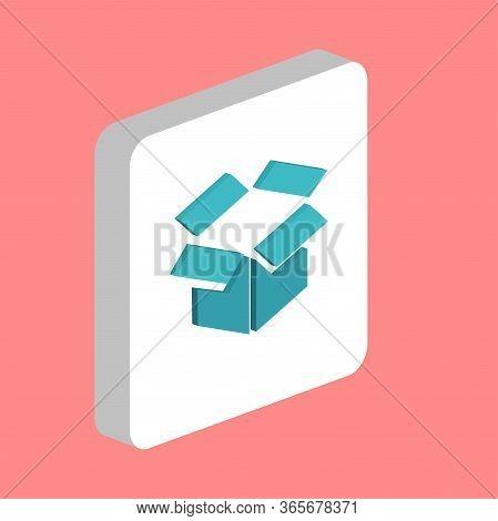 Open Box Simple Vector Icon. Illustration Symbol Design Template For Web Mobile Ui Element. Perfect