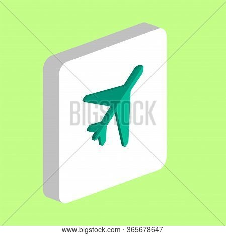 Air Plane Simple Vector Icon. Illustration Symbol Design Template For Web Mobile Ui Element. Perfect
