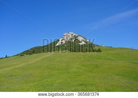 Passo Di Lavaze Italy August 15 Is An Alpine Pass At 1, 808 M Asl, In The Municipality Of Varena In