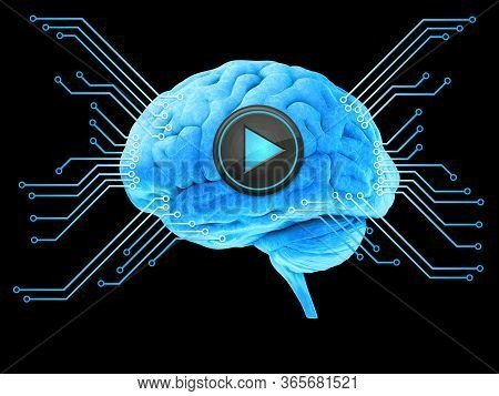 Brain, Thinking Concept, Start, Inspiration Ideas. 3d Illustration