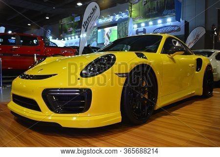 Pasay, Ph - Nov 30 - Porsche Sports Car At Manila Auto Salon Car Show On November 30, 2018 In Pasay,