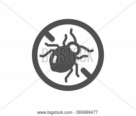 Mattress Bed Bugs Icon. Hypoallergenic Sign. Anti-allergic Symbol. Classic Flat Style. Quality Desig