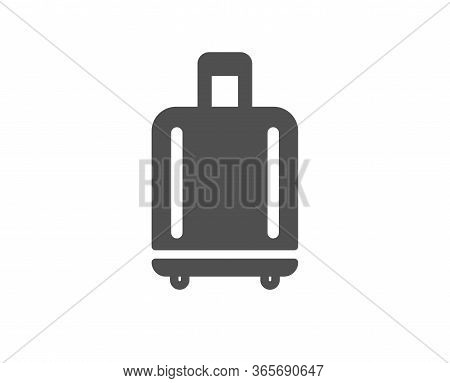 Airport Baggage Reclaim Icon. Airplane Luggage Sign. Flight Checked Bag Symbol. Classic Flat Style.
