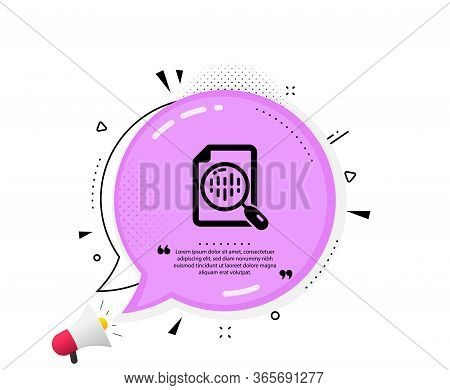 Diagram Chart Icon. Quote Speech Bubble. Analytics Graph Sign. Market Analytics Symbol. Quotation Ma