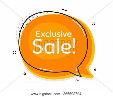 Exclusive Sale. Thought Chat Bubble. Special Offer Price Sign. Advertising Discounts Symbol. Speech