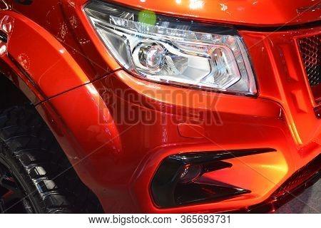 Pasay, Ph - Nov 30 - Nissan Warrior X Pick Up Headlight At Manila Auto Salon Car Show On November 30