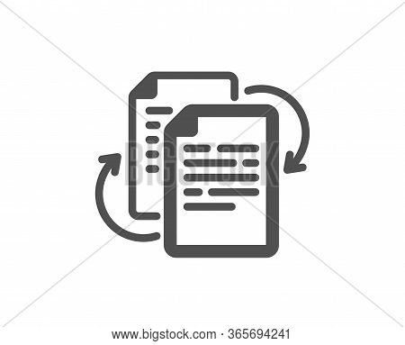 Documents Workflow Icon. Doc File Page Sign. Bureaucracy Symbol. Classic Flat Style. Quality Design