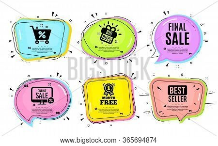 Final Sale. Big Buys, Online Shopping. Special Offer Price Sign. Advertising Discounts Symbol. Quota