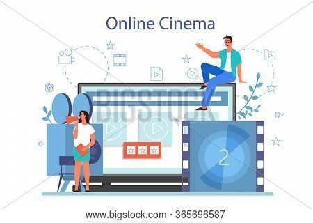 Online Home Cinema Concept. Video Streaming Platform.