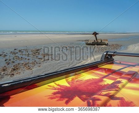 Beautiful Landscape Iin Jericoacoara, In Ceara ,brazil. View From The Buggy