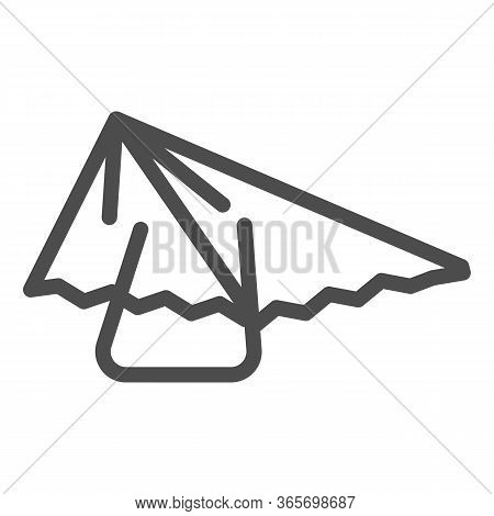 Hang Glider Line Icon, Extreme Sport Activity Symbol, Paragliding Vector Sign On White Background, H
