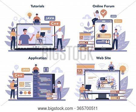 Frontend Development Online Service Or Platform Set. Website