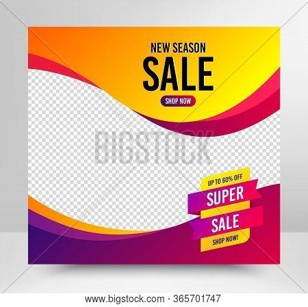 Super Sale Badge. Sale Banner Template. Discount Banner Shape. Coupon Tag Icon. Social Media Layout