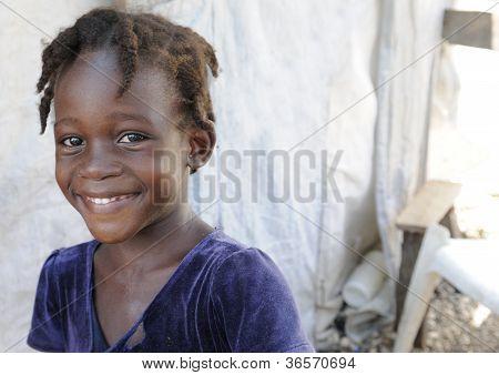 Smiling Haitian.