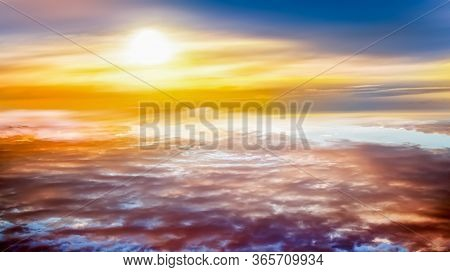 Background Sky At Sunset And Dawn . . Light About The Sky . Paradise Heaven . Dramatic Nature Backgr