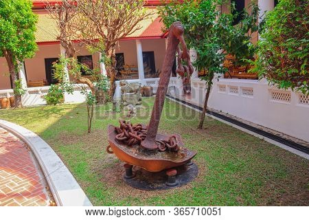 An Old Rusty Anchor Symbolizing Hope And Steadfastness