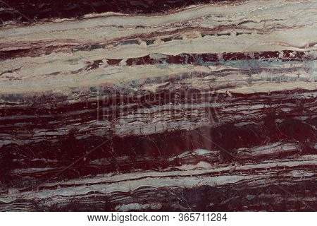 Close Up Of Red Granite Texture, Granite Background.