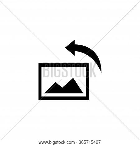 Image Rotation, Turn Photo, Turning Picture. Flat Vector Icon Illustration. Simple Black Symbol On W