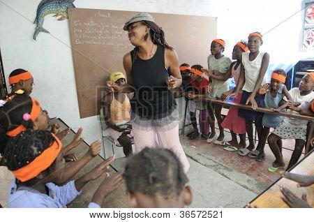 Student school in Cite Soleil-Haiti.