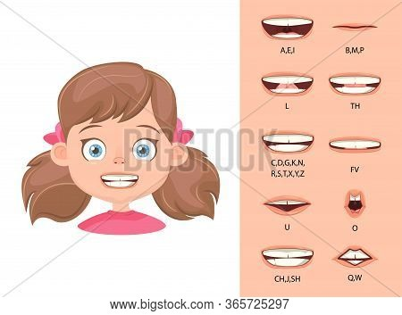 Children's Lip Sync. Lip Sync Collection For Animation. Children's Mouth Animation. Phoneme Mouth Ch