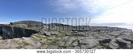 Aran Island Cliffs In Ireland Landscape Blue Skies