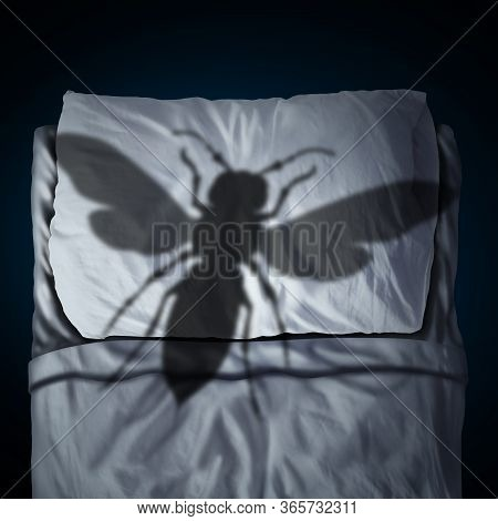 Fear Of Insects Psychology Concept As An Insect Phobia Or Entomophobia As A Giant Hornet Cast Shadow