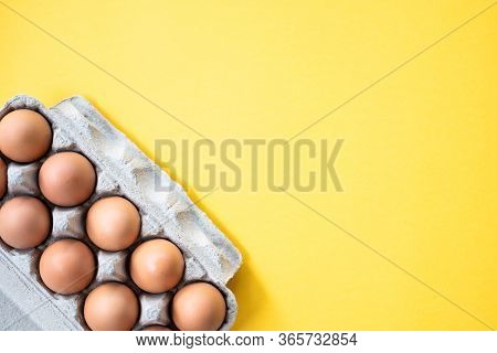 Pile Of Organic Fresh And Raw Hen Chicken Eggs For Sale In The Tray Market Agriculture Farm.high Pro