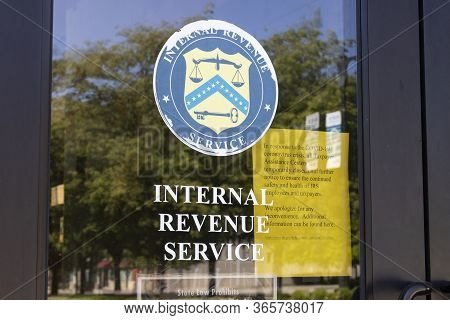 Terre Haute - Circa May 2020: Internal Revenue Service Office. The Irs Has Closed Many Taxpayer Assi
