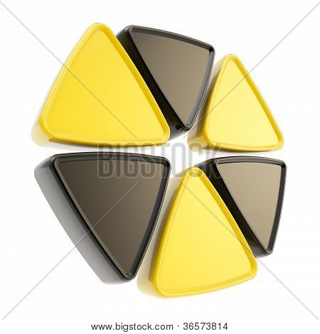 Radiation Alert Sign Emblem Symbol Isolated