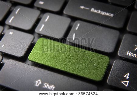 Green Keyboard Key