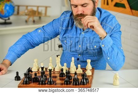 Bad Move Nullifies Good Ones. Chess Lesson. Strategy Concept. Playing Chess. Intellectual Hobby. Fig