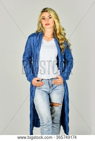 Warm And Comfortable. Clothes Shop. Oversize Cardigan For Your Comfort. Fashionable Cardigan. Girl S