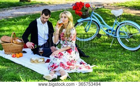 First Date Ideas Guaranteed To Win Her Heart. Enjoying Their Perfect Date. Happy Loving Couple Relax