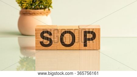 Word Sop On Colorful Wooden Cubes, Bussines Concept