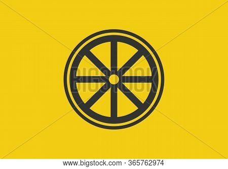 Ferris Wheel Icon Isolated On White Background From Miscellaneous Collection. Ferris Wheel Icon Tren