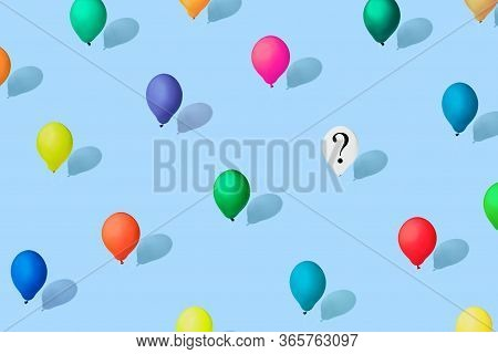 Multicolored Balloons As A Symbol Of Heterogeneity Of Society. Modern Isometric Style. Concept Of In