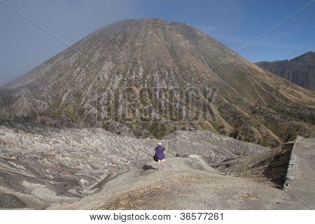 Tourist Photographing Mount Batok