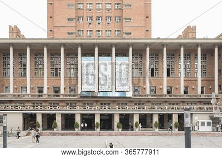 Montevideo / Uruguay, Dec 28, 2018: Exterior View Of Montevideo Municipal Government Building.